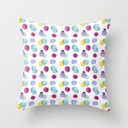 burbujas colores Throw Pillow