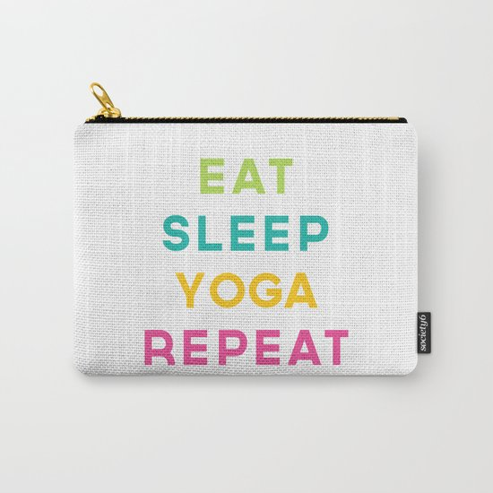 Eat Sleep Yoga Repeat Quote Carry-All Pouch