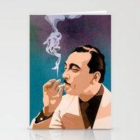 django Stationery Cards featuring Django Reinhardt by Kim Hoffnagle