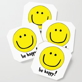 Be Happy Smiley Face Coaster