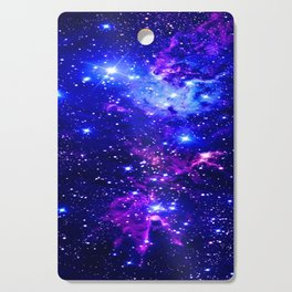 Fox Fur Nebula Galaxy blue purple Cutting Board