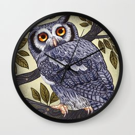 White Faced Owl Wall Clock