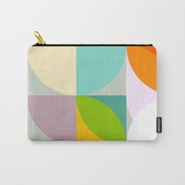 mid century geometry vibrant colors Carry-All Pouch