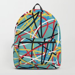 Colored Line Chaos #12 Backpack