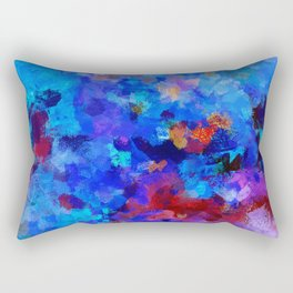 Abstract Seascape Painting Rectangular Pillow