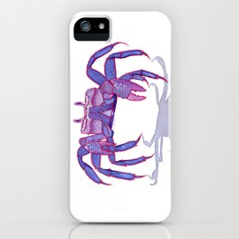 Purple Peacock Crab on the Run iPhone Case