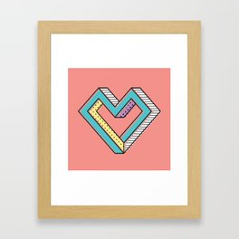 le coeur impossible (nº 2) Framed Art Print