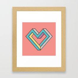 le coeur impossible (nº 2) Framed Art Print