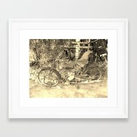 moto Framed Art Prints featuring moto by Vaiva Mlinkauskaite
