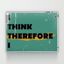 I think therefore I suffer (grunge) Laptop & iPad Skin