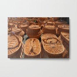 Wicker baskets for sale Metal Print
