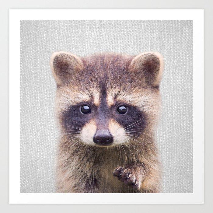 Raccoon - Colorful Kunstdrucke