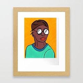 Cool Chick Framed Art Print