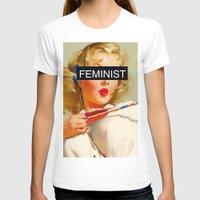 feminist T-shirts featuring Feminist by Lucas de Souza