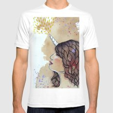 unicorn girl Mens Fitted Tee SMALL White
