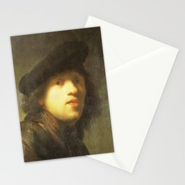 Rembrandt - Self-portrait with a Gorget and Beret (MOA) Stationery Cards