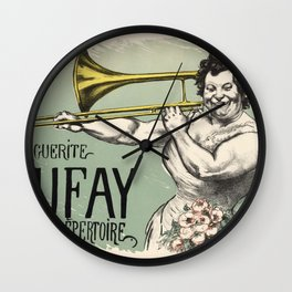 Marguerite Tromboniste Wall Clock