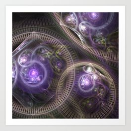 fractal: time and space Art Print