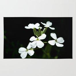Little White Flowers Rug