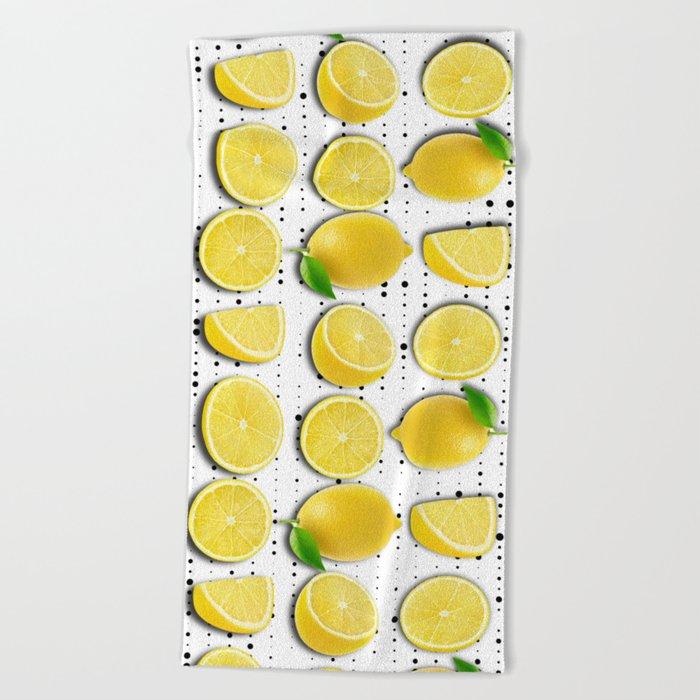 lemon  Beach Towel