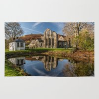 downton abbey Area & Throw Rugs featuring Abbey Reflection by Adrian Evans
