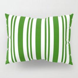 Green and white vertical stripes Pillow Sham