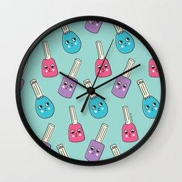 Happy Nail Polish Wall Clock