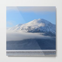 Winter Fog - Turnagain Arm, Alaska Metal Print
