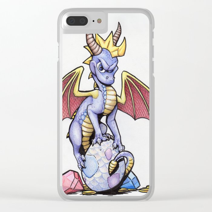 Purple Hero Clear iPhone Case