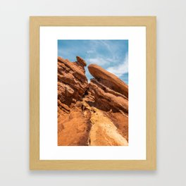 Garden of the Gods Rock Formation Framed Art Print