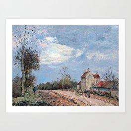 Camille Pissarro - La Maison de monsieur Musy, route de Marly, Louveciennes Art Print
