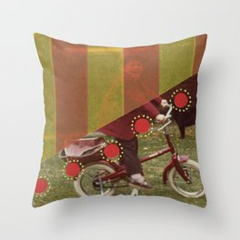 Red Happiness Throw Pillow