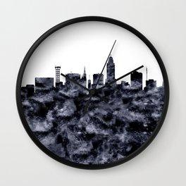 Lincoln Skyline Nebraska Wall Clock