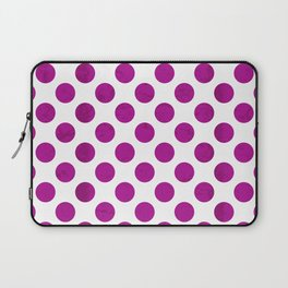 Fuchsia Polka Dot Laptop Sleeve