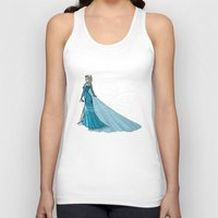 elsa Tank Tops featuring Elsa by Eva Duplan Illustrations