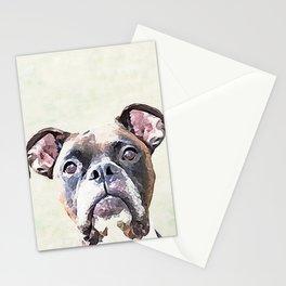 Brindle Boxer Dog Stationery Cards