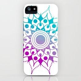 Mandala #2 (Purple Pink Turquiose) iPhone Case