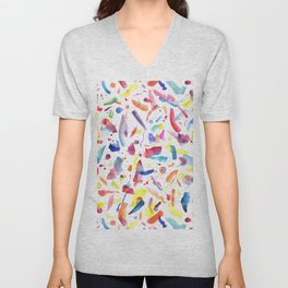 Abstract Painterly Brushstrokes Unisex V-Neck