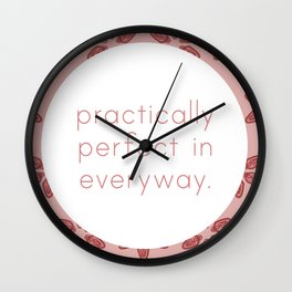 Practically Perfect - Vagina Petals in Pink Wall Clock