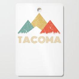 Retro City of Tacoma Mountain Shirt Cutting Board