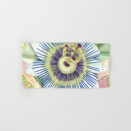 Passionflower Watercolor Hand & Bath Towel