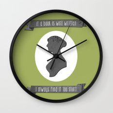 I always find Austen too short Wall Clock