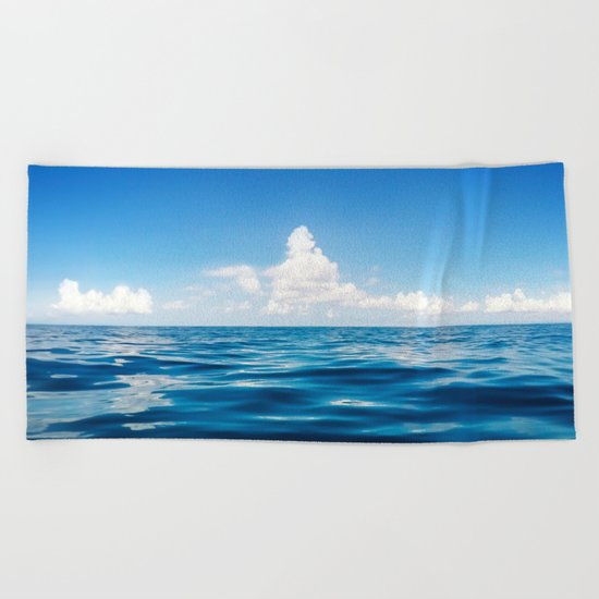 Deep Blue Beach Towel