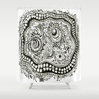 teeth Shower Curtains featuring Teeth by Travis Poston