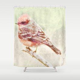 Ode To A Vermillion Flycatcher Shower Curtain