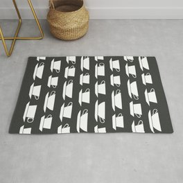Pattern of Coffee and Tea Cups Rug