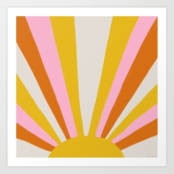 sunshine state of mind Art Print