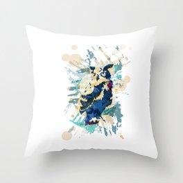 Cryptic Owl Throw Pillow