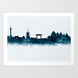 Kyoto Skyline Art Print
