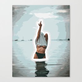 FUn in the Water Canvas Print